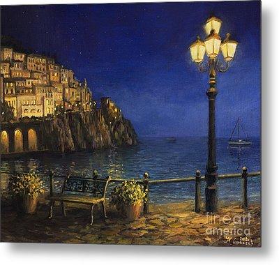 Summer Evening In Amalfi Metal Print by Kiril Stanchev