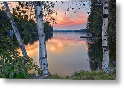 Summer Evening On Highland Lake Metal Print by Darylann Leonard Photography