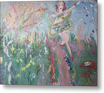 Metal Print featuring the painting Summer Fairy by Judith Desrosiers