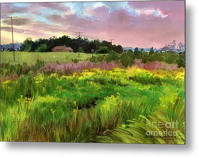 Metal Print featuring the painting Summer Field by Sergey Zhiboedov
