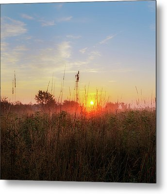 Summer Fields 2016 Square Metal Print by Bill Wakeley