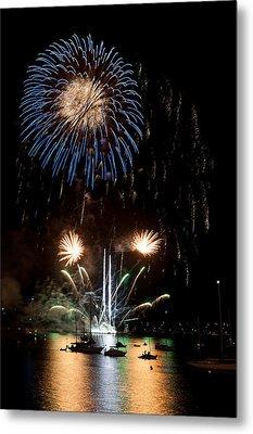 Summer Fireworks I Metal Print by Helen Northcott
