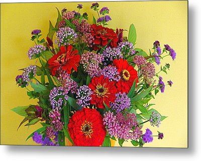 Metal Print featuring the photograph Summer Flower Bouquet by Byron Varvarigos