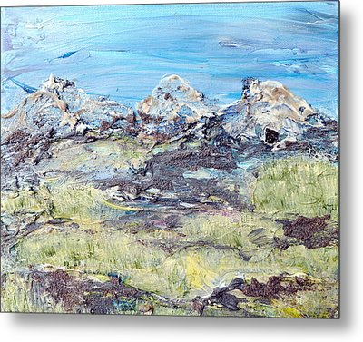 Summer Foothills Metal Print