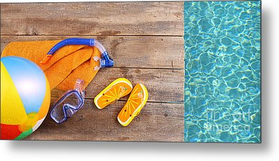 Summer Fun Background Metal Print by Sandra Cunningham
