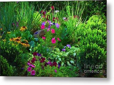 Summer Garden In Bloom Metal Print