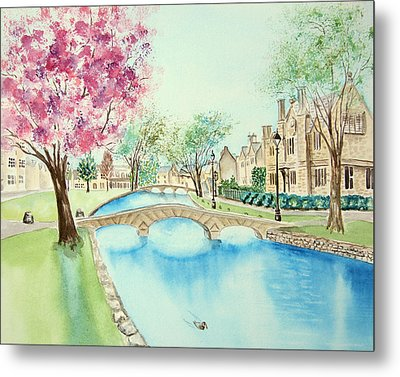 Summer In Bourton Metal Print