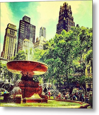 Summer In Bryant Park Metal Print by Luke Kingma