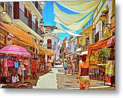 Metal Print featuring the photograph Summer In Malaga by Mary Machare