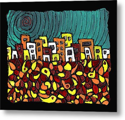 Summer In The City Metal Print by Wayne Potrafka