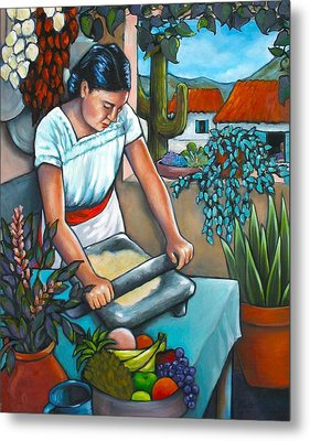Summer Kitchen Metal Print by Lorraine Klotz