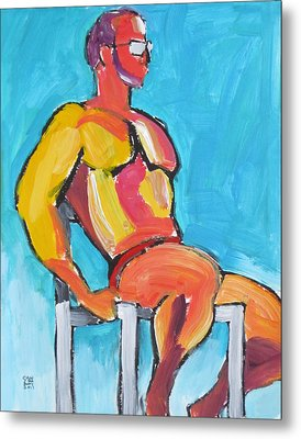 Summer Lifeguard Metal Print
