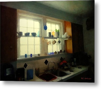 Summer Light In The Kitchen Metal Print by RC deWinter
