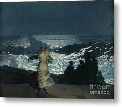 Summer Night Metal Print by Winslow Homer
