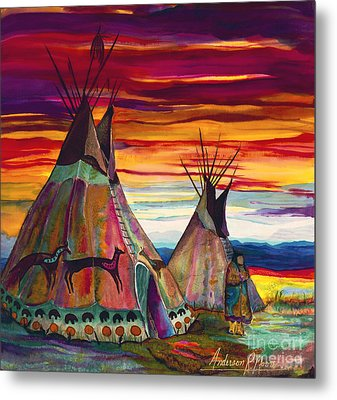 Summer On The Plains Metal Print by Anderson R Moore