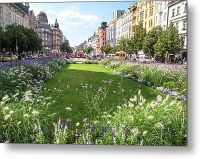 Metal Print featuring the photograph Summer Prague by Jenny Rainbow