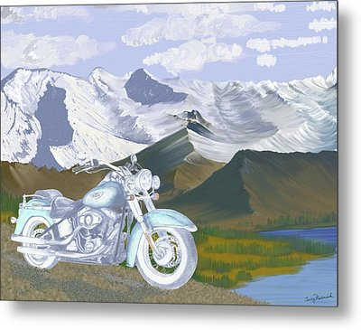 Metal Print featuring the drawing Summer Ride by Terry Frederick