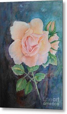 Summer Rose - Painting Metal Print