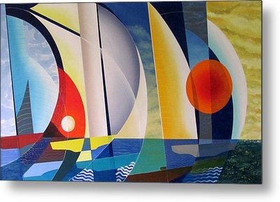 Metal Print featuring the painting Summer Sailing by Douglas Pike