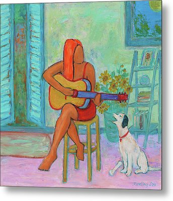 Metal Print featuring the painting Summer Serenade II by Xueling Zou