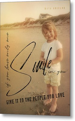 Summer Smile Quote Metal Print by JAMART Photography