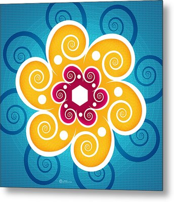 Summer Spiral Metal Print by Soul Structures