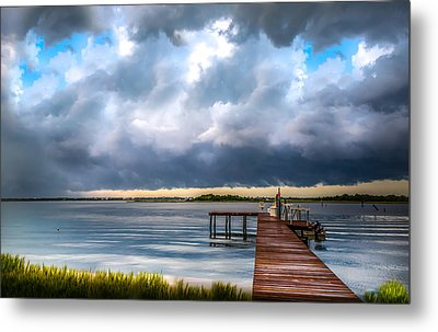 Summer Storm Blues Metal Print by Karen Wiles