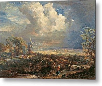 Summer Storm Near Pulborough, Sussex Metal Print by Samuel Palmer