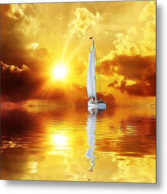 Summer Sun And Fun Metal Print by Gabriella Weninger - David