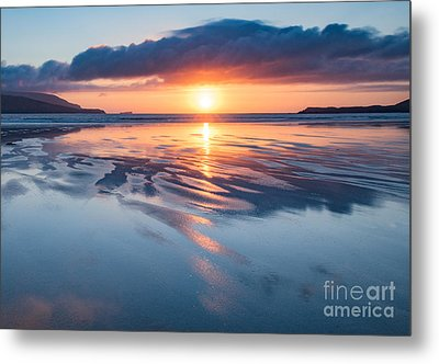 Summer Sunset Over Balnakeil Bay Metal Print by Janet Burdon