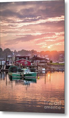 Summer Sunset Over Cook's Lobster Metal Print by Benjamin Williamson