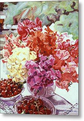 Summer Sweet Cherries Metal Print by David Lloyd Glover