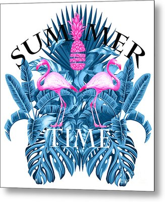 Summer Time Tropical  Metal Print