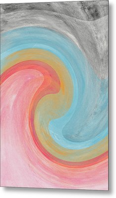 Summer Waves- Abstract Art By Linda Woods Metal Print by Linda Woods