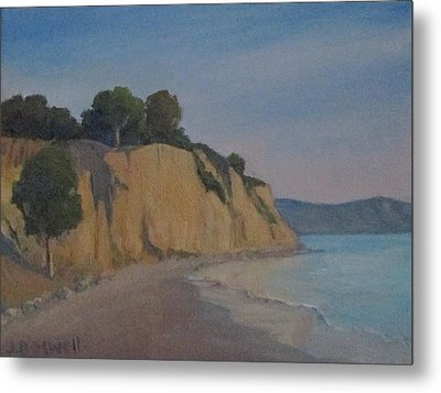 Summerland Beach Study Metal Print by Jennifer Boswell