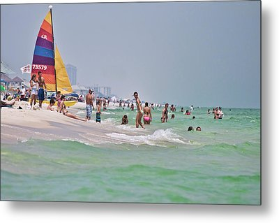 Summers Day On Pensacola Beach Metal Print