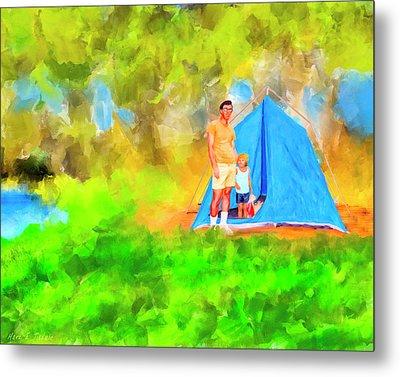 Summers On Open Pond - Alabama Landscape Metal Print by Mark Tisdale