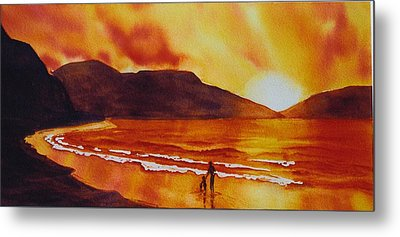 Summers-sunset Metal Print by Nancy Newman