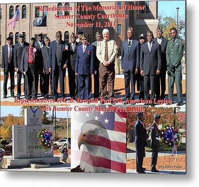 Sumter County Memorial Of Honor Metal Print by Jerry Battle