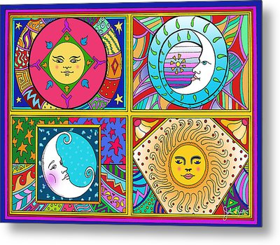 Sun And Moon Ensemble Metal Print by John Keaton