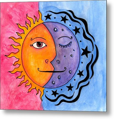 Sun And Moon Metal Print by Jessica Kauffman