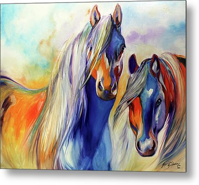 Sun And Shadow Equine Abstract Metal Print by Marcia Baldwin