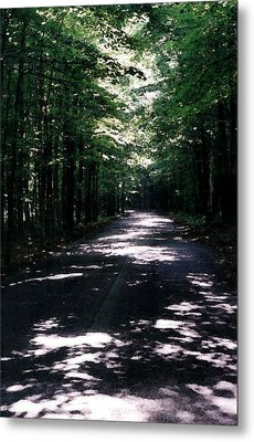Metal Print featuring the photograph Sun And Shadow Road In Summer Imp Wc by Lyle Crump