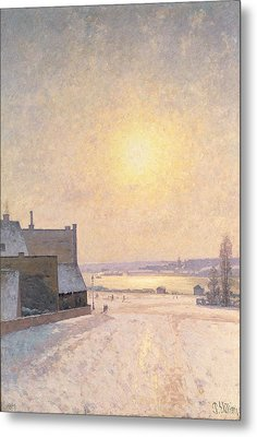 Sun And Snow Metal Print by Per Ekstrom