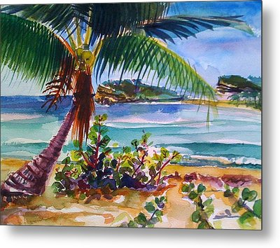 Sun Bay, Vieques, Puerto Rico Metal Print by Barbara Richert