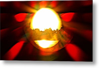 Metal Print featuring the photograph Sun Burst by Eric Dee