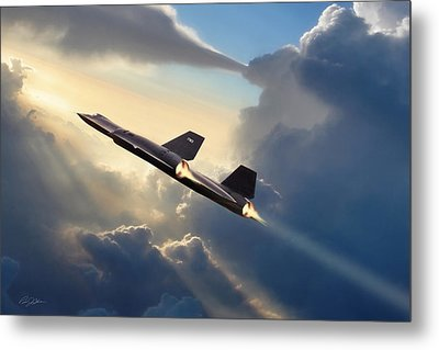 Sun Chaser Sr-71 Metal Print by Peter Chilelli