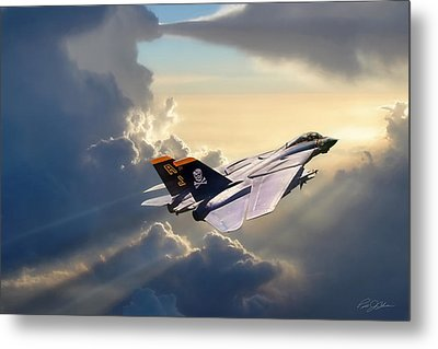 Sun Chaser Vf-84 Metal Print by Peter Chilelli