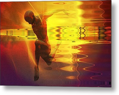Metal Print featuring the digital art Sun Dancer by Shadowlea Is