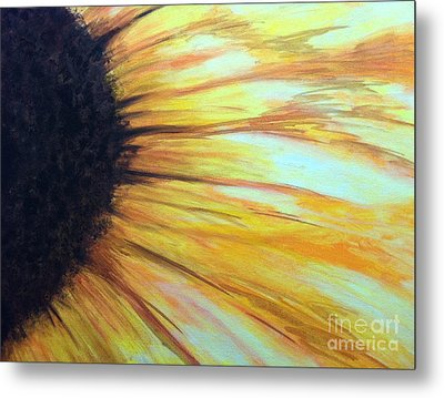 Sun Flower Metal Print by Sheron Petrie